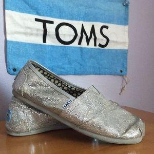 Silver Glitter TOMS